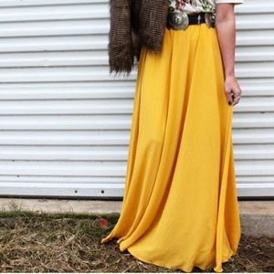Dresses & Skirts - Mustard Maxi Skirt